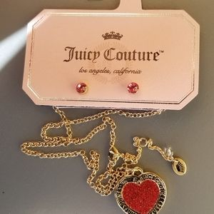 Juicy Couture Heart necklace set.